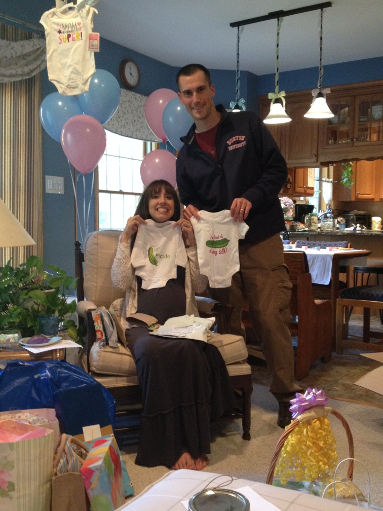 Adorable onesies from Kristen and Miles - Lil Pickle and I'm kind of a big Dill!
