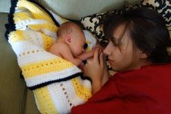I cuddled with mama