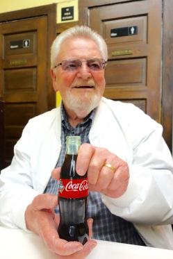 The still serve the nostalgic coca cola in glass bottles