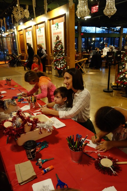 Kid crafts at Supper with Santa