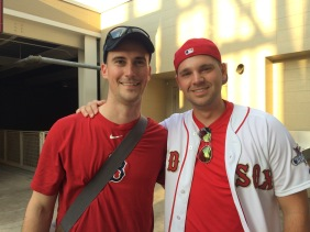We randomly ran into Josh's cousin, Nick, when we went to the Reds/Red Sox game!