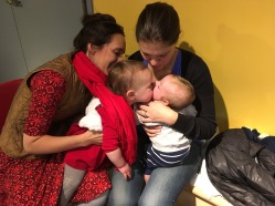 Abby kissing our godson, Trey
