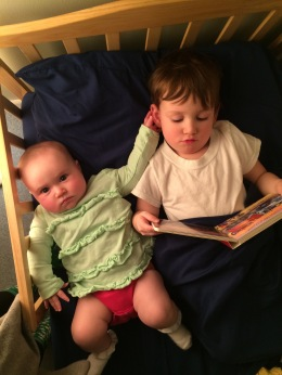 One of John-Paul's first nights in his toddler beds