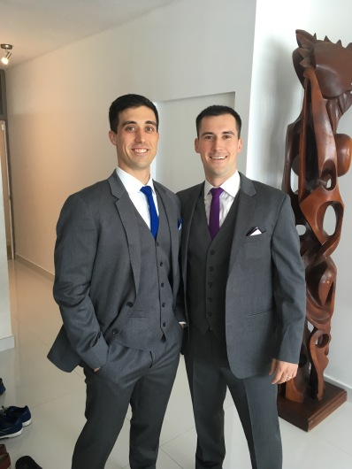 Josh was a groomsman for his good friend, Kevin in Puerto Rico. Here he is with our other good friend, Matt Hall