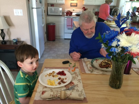 Breakfast with Poppy!