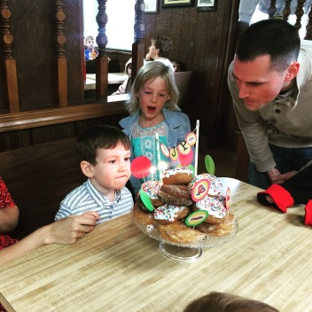 Jp's 3rd birthday at Bill's Donuts with friends