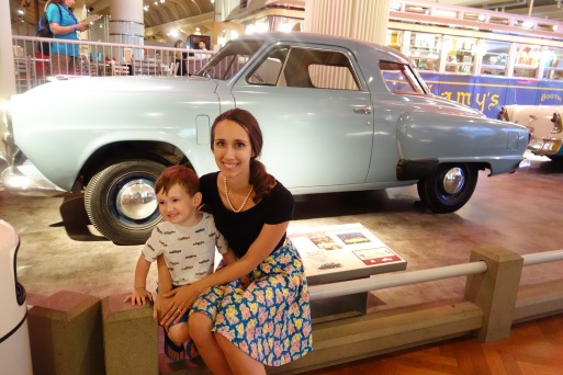 Henry Ford Museum inDetroit, MI. We were here when I was 6 months pregnant with JP and I took a photo in front of this same car