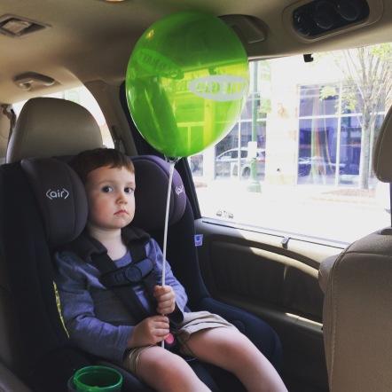 Post hair cut balloon