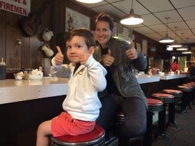 Post Cedar Point breakfast at Old Sandusky's.