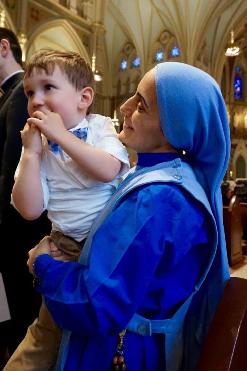 JP with Mother Olga of the Daughter of Mary of Nazareth at the Boston Archdiocese Ordination Mass