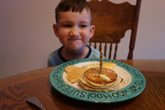 Pancakes for the birthday boy