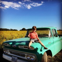 Took a ride in Ben Nanneman's old '61 out on the farm