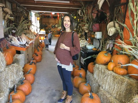 Me and all the pumpkins I grew